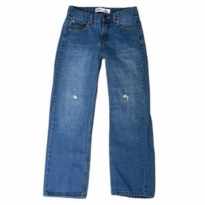 Levi's 550 youth relaxed blue jeans 14 reg